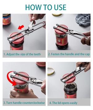 ????Limited Time Big Sale????-Adjustable Multifunctional Stainless Steel Can Opener