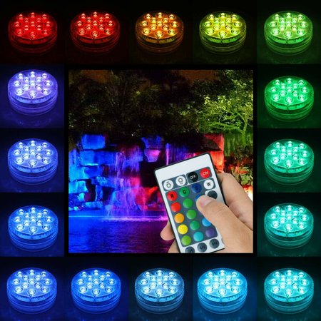 4 Pack Submersible Pool Lights,Underwter Pond LED Light,16 Colors Changing Remote Control for Fish Tank,Aquarium,Tub,Fountain,Waterfall,Vase Base Best Christmas Party Supplies   Walmart Canada