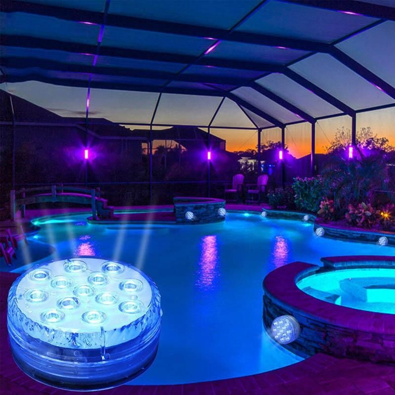 16 Colors Submersible Led Pool Lights in 2020   Led pool lighting, Pool lights, Underwater pool light